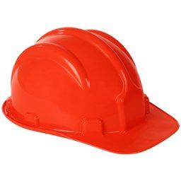 Capacete de Segurança PLT Vermelho com Aba Frontal