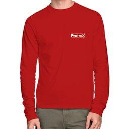 Camisa de Segurança Dry Fit UV 50 Manga Longa Vermelha Tamanho P