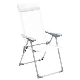 Cadeira Alta Dobrável em Textilene 5 Posições Branca