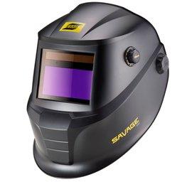 Máscara de Solda Automática Savage A40 Preta Profissional Com Regulagem Ton 9 à 13