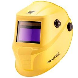 Máscara de Solda Automática Savage A40 Amarela Profissional Com Regulagem Ton 9 à 13