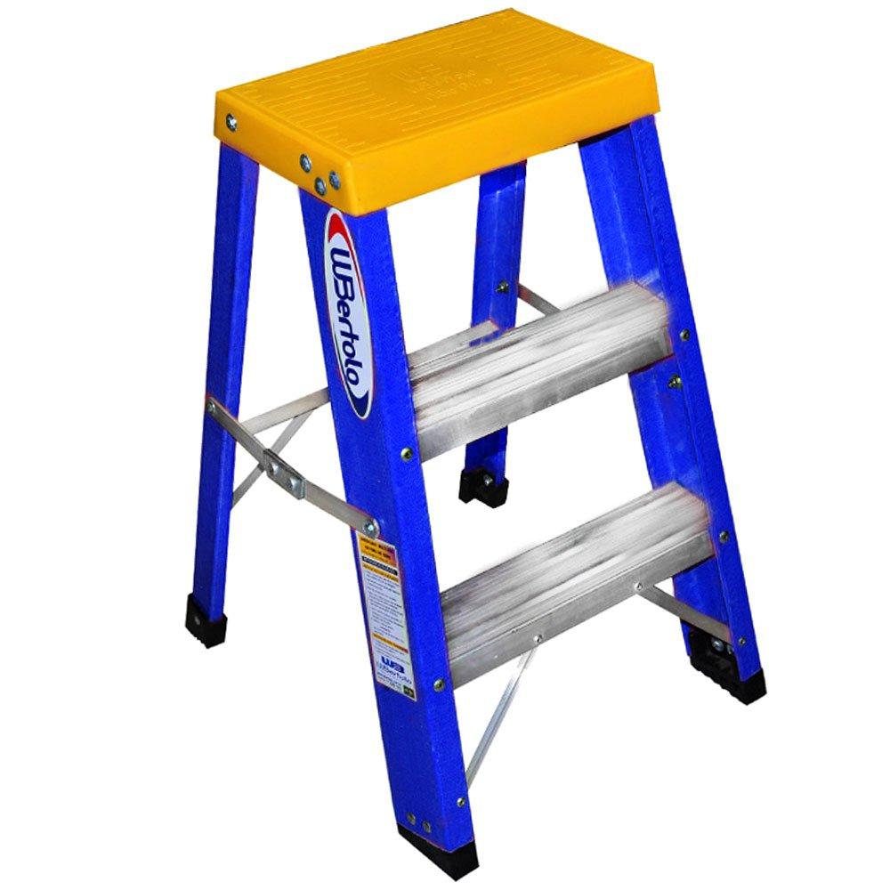 Escada Banqueta Premium Alumínio e Fibra 60cm com 3 Degraus