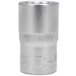 Soquete Estriado 8mm CRV com Encaixe 1/2 Pol.