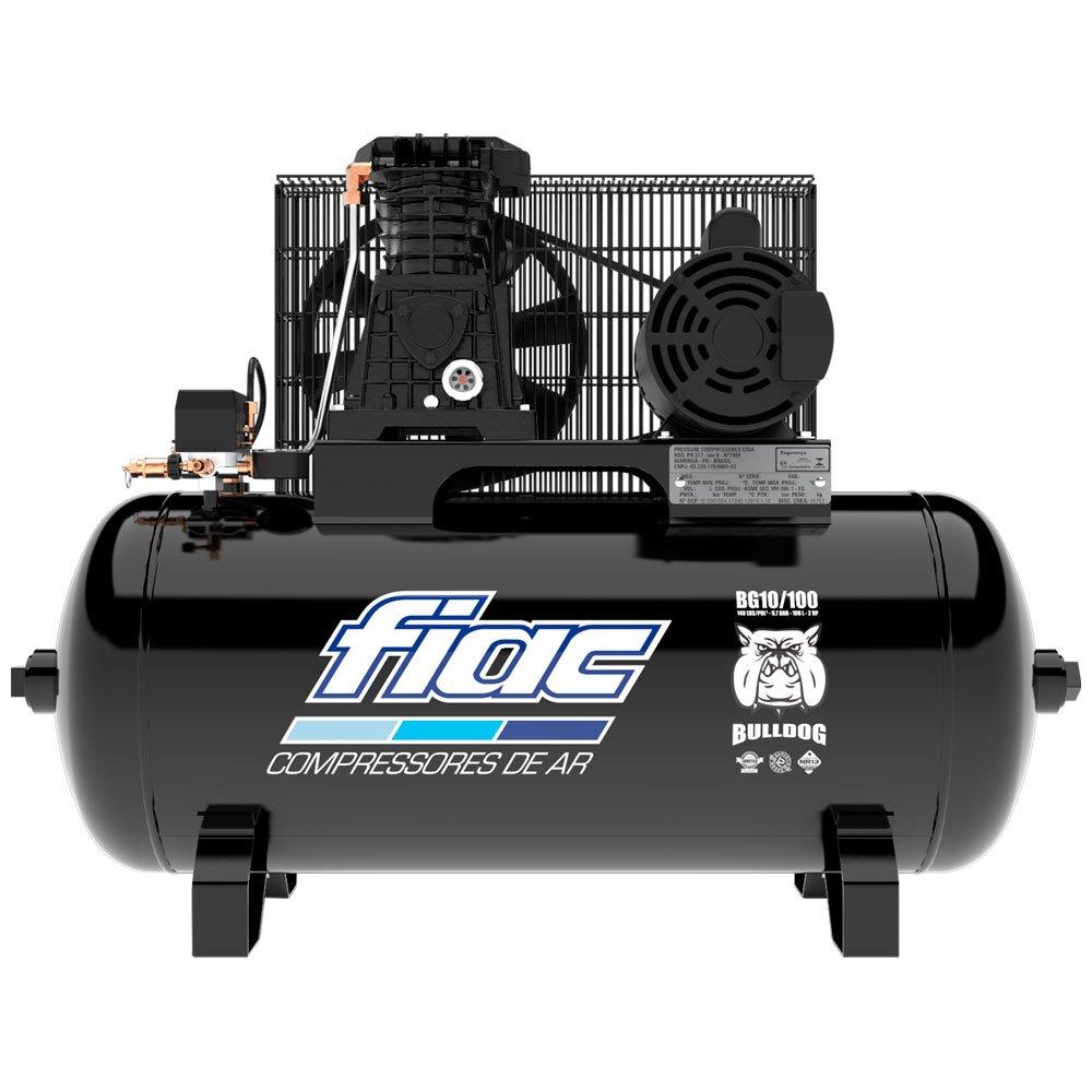 Compressor de Ar Bulldog 10 Pés 100 Litros Monofásico 110/220V