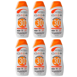 Kit com 6 Protetores Solar Profissional NUTRIEX 0060954 FPS 30 1/3 UVA 120 ml
