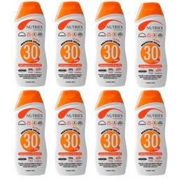 Kit com 8 Protetores Solar Profissional NUTRIEX 0060954 FPS 30 1/3 UVA 120 ml
