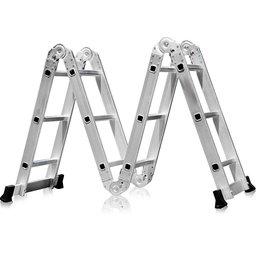 Escada Multifuncional 4x3 em Aço e Alumínio 12 Degraus com Pequena Avaria