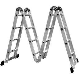 Escada Multifuncional 4x4 em Aço e Alumínio 16 Degraus com Pequena Avaria