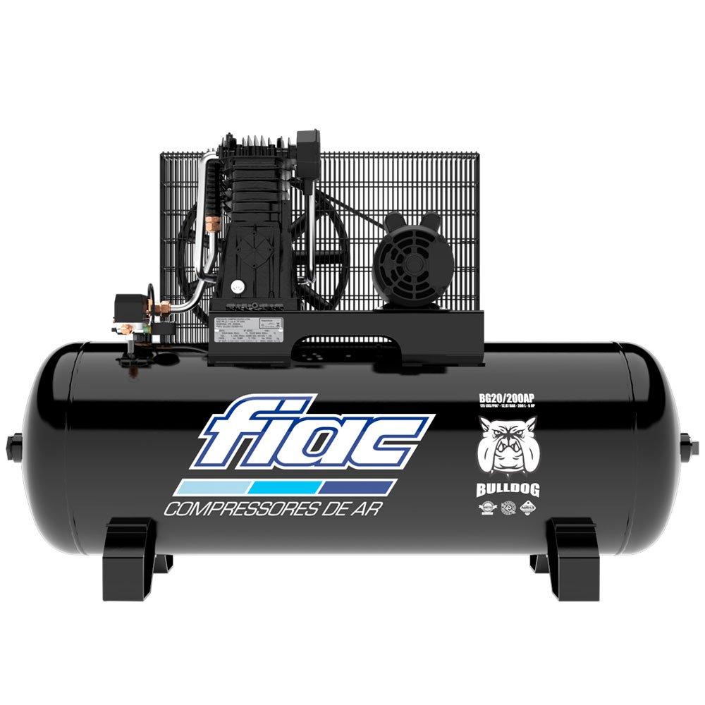 Compressor de Ar 20 Pés 5HP 200 Litros 175 PSI Trifásico 220/380