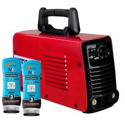 Máquina de Solda FORTGPRO-FG4123 Inversora Multifuncional + 2 Cremes Protetor para Pele Luva Química NUTRIEX-0063651 200g