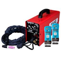 Kit Máquina de Solda FORTGPRO-FG4313 Multifuncional Inversora + 2 Cremes Protetores para Pele NUTRIEX-0063651 Luva Química