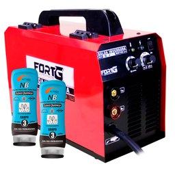 Kit Máquina de Solda Multifuncional FORTGPRO-FG4512 + 2 Cremes Protetores para Pele NUTRIEX-0063651 Luva Química