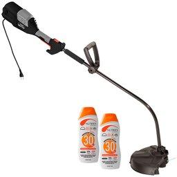 Kit Roçadeira de Grama SOMAR-RGCS1000 1000W 220V + 2 Protetores Solar Profissional NUTRIEX-0060954 120 ml