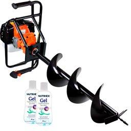 Kit Perfurador de Solo VULCAN-VPS-520  à Gasolina 52 CC + 2 Álcool em Gel NUTRIEX-64311 70% 90g