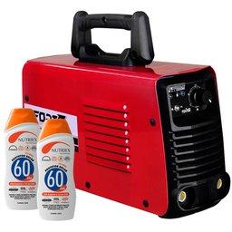 Kit Máquina de Solda Inversora FORTGPRO-FG4123 + 2 Protetores Solar NUTRIEX-60962 120ml