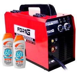 Kit Máquina de Solda Multifuncional FORTGPRO-FG4512 MIG/MAG com e sem Gás  + 2 Protetores Solar Facial NUTRIEX-61093