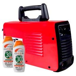 Kit Máquina de Solda FORTGPRO-FG4122 Inversora Multifuncional 110/220V + 2 Protetores Solar NUTRIEX-60988 120 ml