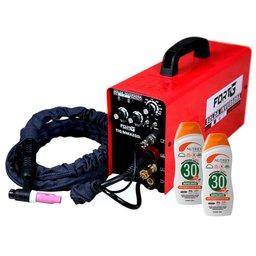 Máquina de Solda Multifuncional FORTGPRO-FG431 Inversora TIG  com Tocha Bivolt + 2 Protetores Solar NUTRIEX-60988 120 ml