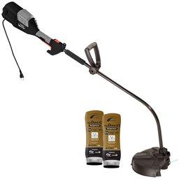 Kit Roçadeira de Grama Elétrica SOMAR-RGCS1000 Eixo Curvo 1000W 110V + 2 Cremes Hidratantes NUTRIEX-62232 200g