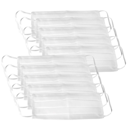 Kit 10 Máscaras Respirável Dupla 100% Algodão Branca Lavável