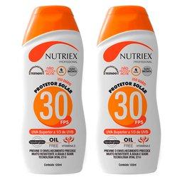 Kit 2 Protetores Solares NUTRIEX-0060954  Profissional FPS 30 1/3 UVA 120 ml