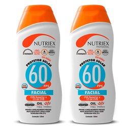 Kit 2 Protetores Solares Facial NUTRIEX-61093 FPS 60 1/3 UVA 120 ml