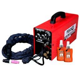 Kit Máquina de Solda Multifuncional Inversora TIG e MMA 200A 110/220V Fortg FG4313 + 2 Spray Repelente de Insetos 100ml Nutriex 62646