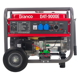 Gerador de Energia à Gasolina 16.5HP 9Kva Monofásico 110/220V AVR B4T 9000E com Partida Elétrica