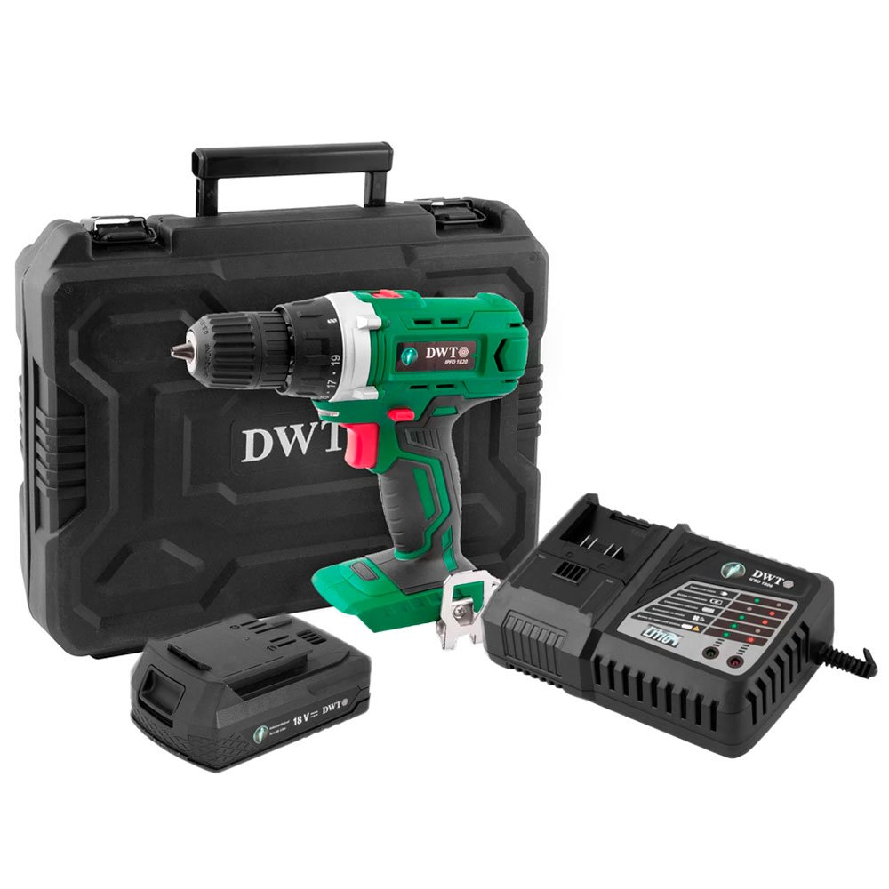 Kit Parafusadeira/Furadeira DWT-6014182000 18V + Carregador DWT-6014180600 + Bateria Íons de Lítio DWT-6014180200