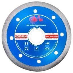 Disco Diamantado Contínuo Prata 105 x 20 mm com Bucha de 15,8mm