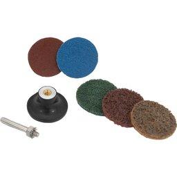 Jogo de Discos de Lixa com Esponja Abrasiva 50 mm 20 Peças