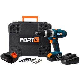Kit Parafusadeira FORTG-FG3000 1/2 Pol. 20V com Maleta e Carregador + Bateria FORTG-FG3441 20V 2Ah