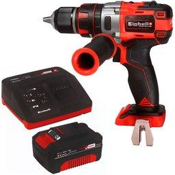 Kit Parafusadeira/ Furadeira de Impacto Brushless EINHELL-TE-CD/18LI-I-B 1/2 Pol. 18V + Bateria e Carregador EINHELL-4512106 18V 4.0 Ah
