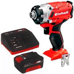 Kit Chave de Impacto Brushless EINHELL-TE-CI18LI-BL-SOLO 1/4 Pol. 18V + Bateria e Carregador EINHELL-4512106 18V 4.0 Ah
