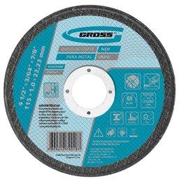 Disco de Corte para Inox e Metal 115 x 1,0 x 22,23mm
