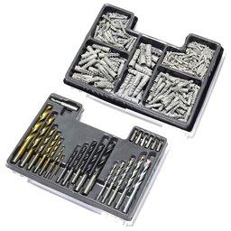 Jogo de Brocas em Aço para Concreto, Metal e Madeira com Jogo de Peças