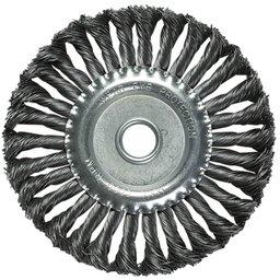 Escova de Aço Carbono Circular Torcida 100x22mm 12500RPM