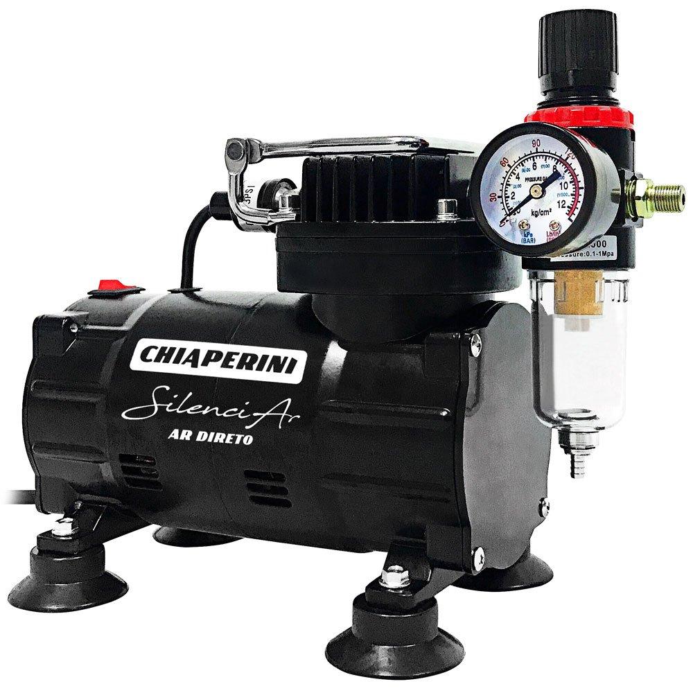 Motocompressor de Ar Direto Silenciar 25PSI 150W 1/5HP  220V