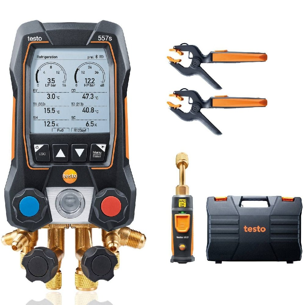 Kit Smart Vacuo Manifold Digital 557s com Bluetooth e Válvulas de 4 Vias