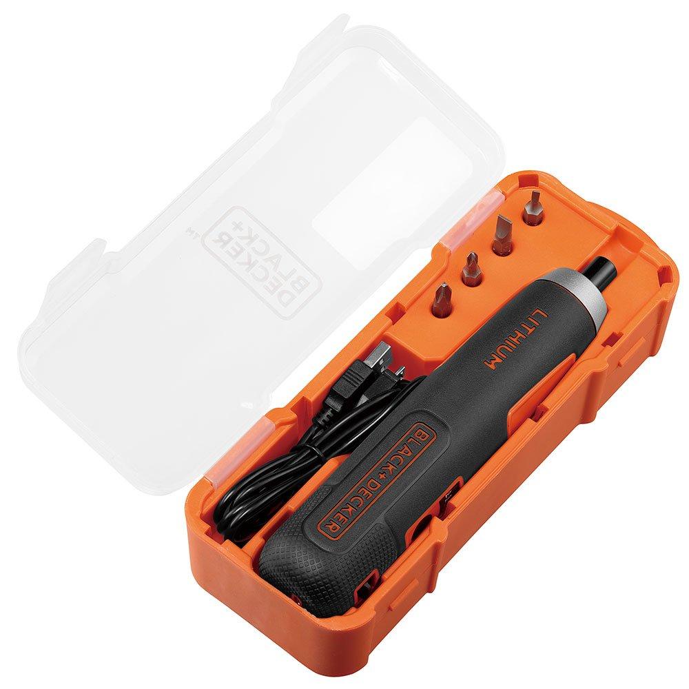 Parafusadeira a Bateria 4V Lítio 1/4 Pol. com 4 Acessórios