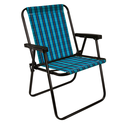 Cadeira Xadrez Marine Dobrável Azul para até 110kg
