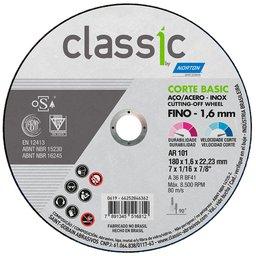 Disco de Corte Classic Basic 180 x 1,6 x 22,23mm