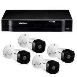 Kit Gravador Digital de Vídeo Multi HD  MHDX INTELBRAS-4580326 + Câmera Infra Multi HD VHD 20m - INTELBRAS-4565323