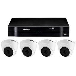 Kit Gravador Digital de Vídeo MHDX INTELBRAS-4580326 + Câmera Infra 1010 D Multi HD VHD INTELBRAS-4565331