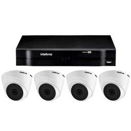 Kit Gravador Digital de Vídeo MHDX INTELBRAS-4580326 + Câmera Infra Dome HDCVI LITE - INTELBRAS-4565303