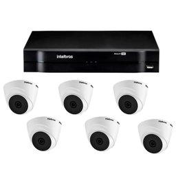 Kit Gravador Digital de Vídeo Multi HD - INTELBRAS-4580327 + Câmera Infra Dome HDCVI LITE - INTELBRAS-4565303