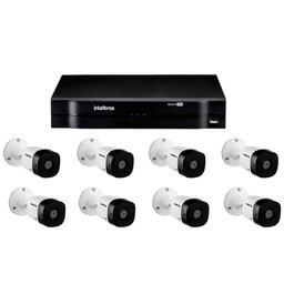 Kit Gravador Digital de Vídeo Multi HD - INTELBRAS-4580327 + Câmera Infra 1220 B Multi HD VHD 3,6mm 20m - INTELBRAS-4565323