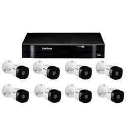 Kit Gravador Digital de Vídeo Multi HD - INTELBRAS-4580327 + Câmera Infra 1010 B Multi HD VHD 2 Leds 3,6mm 10m - INTELBRAS-4565332
