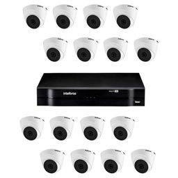 Kit Gravador Digital de Vídeo Multi HD 16 Canais - INTELBRAS-4580329 + Câmera Infra  Multi HD VHD 2,8mm 20m - INTELBRAS-4565298