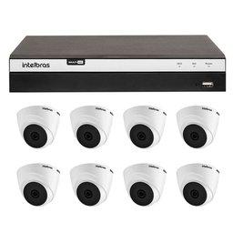 Kit Gravador Digital de Vídeo Multi HD 8 Canais BNC + 4 Canais - INTELBRAS-4580331 + 2 canais - INTELBRAS-4580330 + Câmera Infra Dome HDCVI 2,8mm 20mm - INTELBRAS-4565303